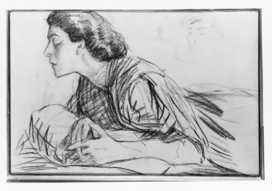 Portrait of Alla Nazimova by Bryson Burroughs