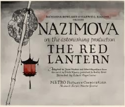 "1919: Alla Nazimova in ""The Red Lantern"""