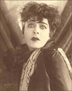 Alla Nazimova portrait in sepia